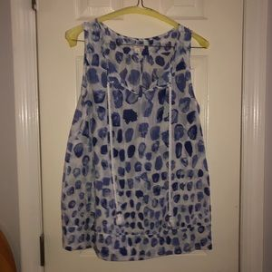 Gap sleeveless blouse cobalt and white size xs